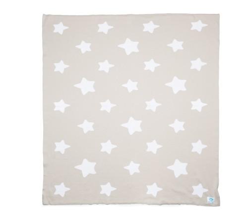 "Ekologiškos medvilnės pledas ""Beige Stars"""