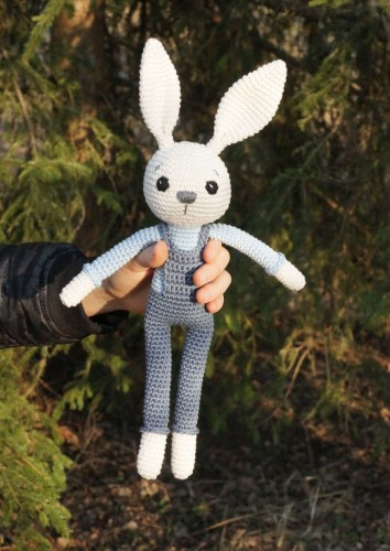 Bunny with blue pants